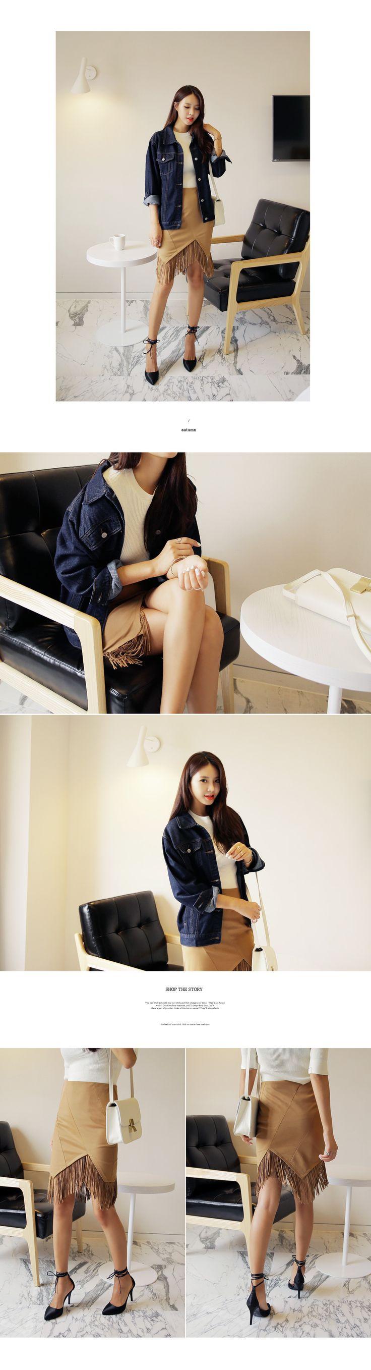 スエード素材フリンジアシメントリーHラインスカート・全2色スカートスカート|レディースファッション通販 DHOLICディーホリック [ファストファッション 水着 ワンピース]