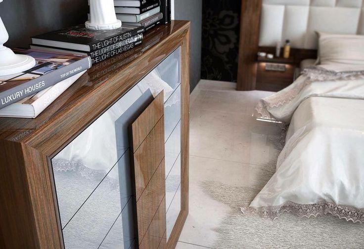 Modelo de #amueblamiento tipo con #muebles Franco Furniture