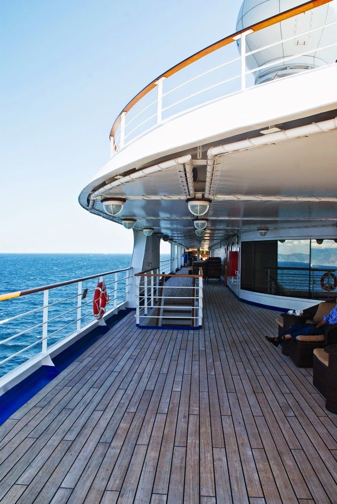 Luxury cruise with Silver Spirit. The open air lounge area. Silvesea