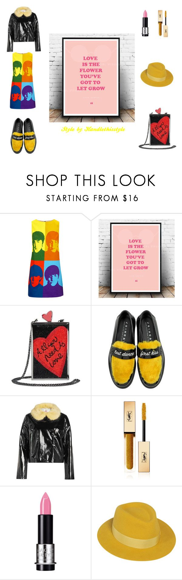 """Love is The Flower 🌹🌹🌹🌼🌼🌼🌷🌷🌷"" by handlethisstyle ❤ liked on Polyvore featuring Alice + Olivia, Joshua's, Shrimps, Yves Saint Laurent, MAKE UP FOR EVER and Maison Michel"