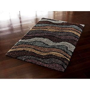 Orian Whisper Waves Multicolor Shag Area Rug