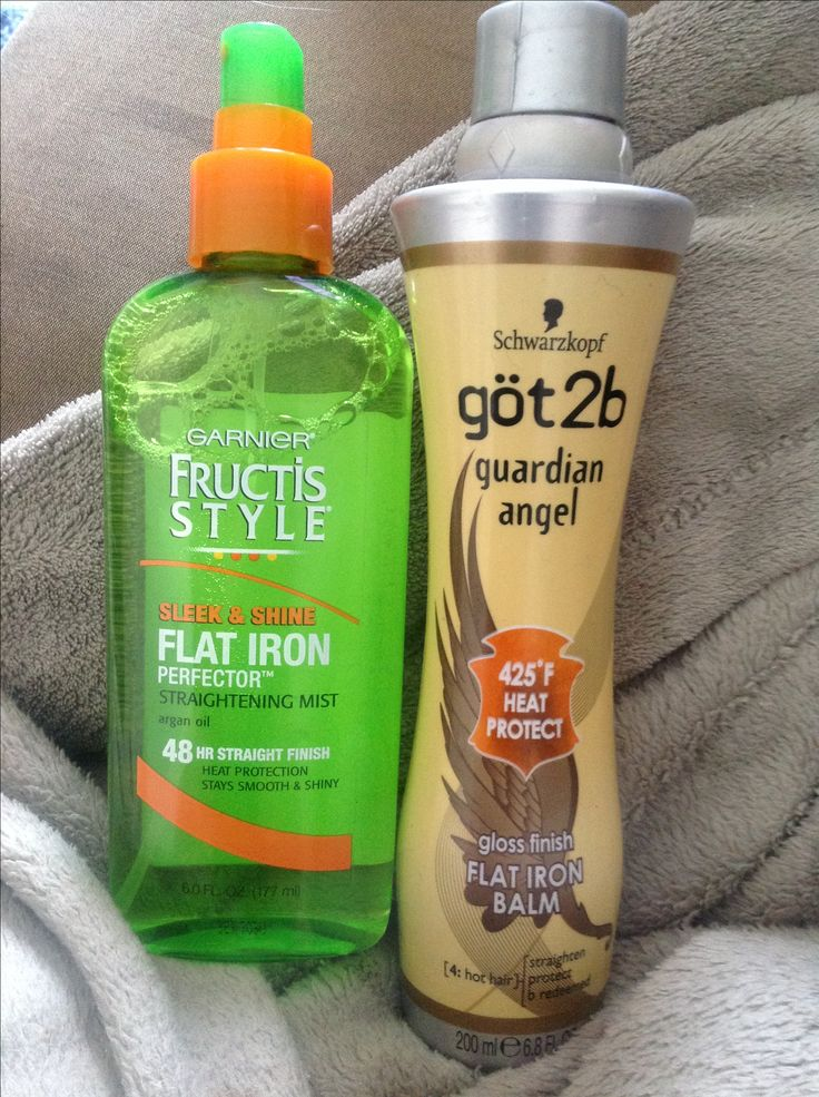 These two products keep my hair straight all day NO MATTER WHAT WEATHER! Some people can get away with a few sprays but a spray each section.  I spray both into my hand first then apply to section. First I do the wet to dry flat iron, spray protectant, then re flat iron with regular straightener. Enjoy!