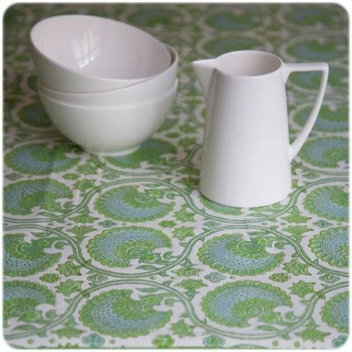 Bungalow - BLOCK-PRINT TEXTILES - tablecloth large