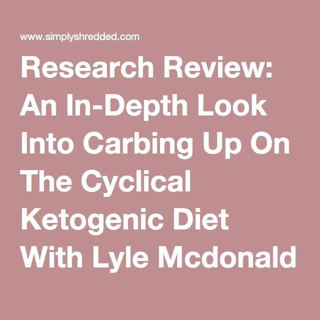 Research Review: An In-Depth Look Into Carbing Up On The Cyclical Ketogenic Diet With Lyle Mcdonald | SimplyShredded.com