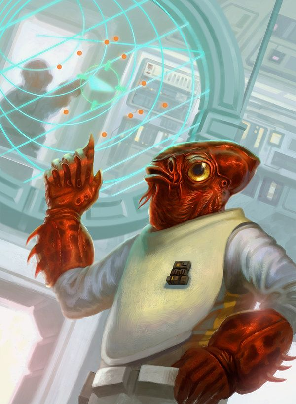 Admiral Ackbar by jubjubjedi. #StarWars #Art #gosstudio .★ We recommend Gift Shop: http://www.zazzle.com/vintagestylestudio ★