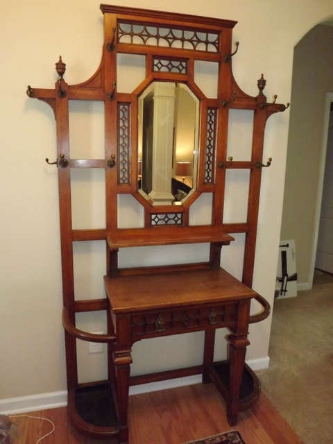 The Design Enthusiast: Amazing Antiques ~ Hall tree / Umbrella and Coat stands
