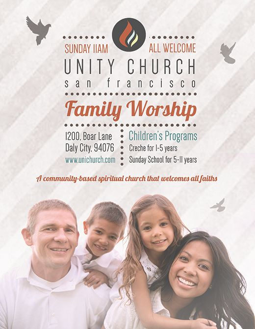 free flyer templates for your church or spiritual event