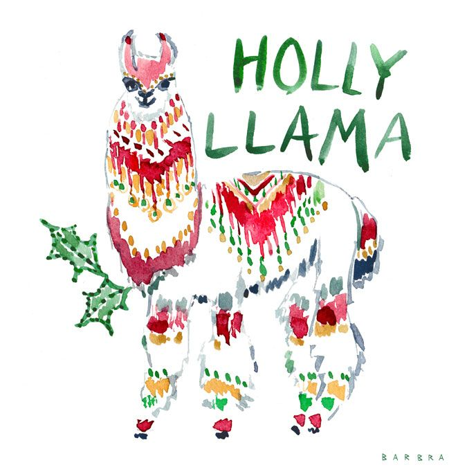 Cuddly and cute with a goofy face, #llamas are great for spreading holiday cheer. #holiday #boho