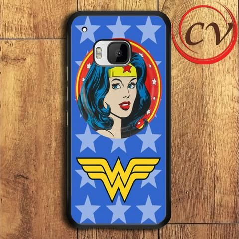 Wonder Woman Comic Design HTC One M9 Black Case