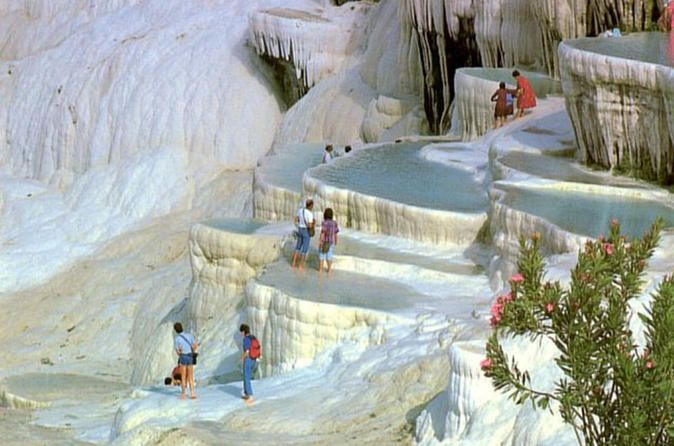 Pamukkale Day Tour from Istanbul by Plane If you would like visit the Pamukkale and Hierapolis in one day, this dailt tour package is best option. You can see these amazing places from Istanbul in a convenient day trip package by plane.You will fly to Denizli and transfer to Pamukkale town to join the group. After you joined group, (or start your private tour) the tour will start with the first visit to the Necropolis (cemetery) of Hierapolis which is one of the biggest ancien...