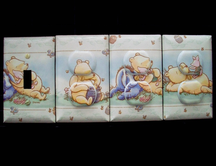 Light Switch Cover and Outlet Covers Winnie The Pooh Classic Theme Nursery. $27.00, via Etsy.