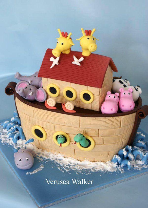 Noah Ark 3D Cake by Verusca Walker based on Debbie Brown cake