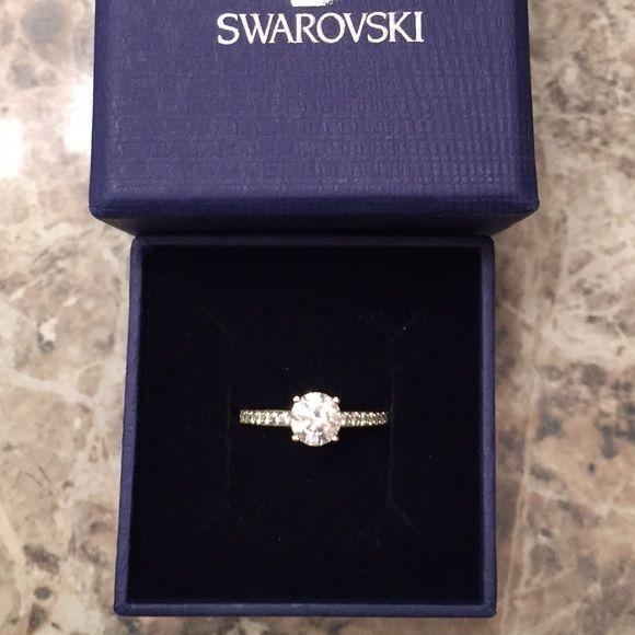 Swarovski Attract Round Ring! Size 55 (7 1/2) rhodium-plated Swarovski ring Swarovski Jewelry Rings