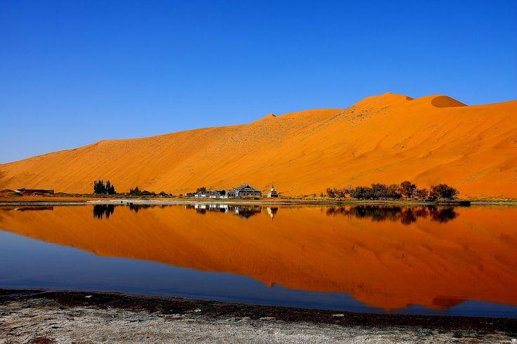 Trek through the mysterious Badain Jaran desert.