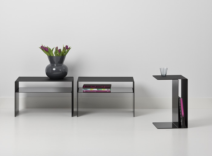 Captivating Cascando Bent Metal End Or Side Table. Vertical Or Horizontal (small  Version). Nice Design