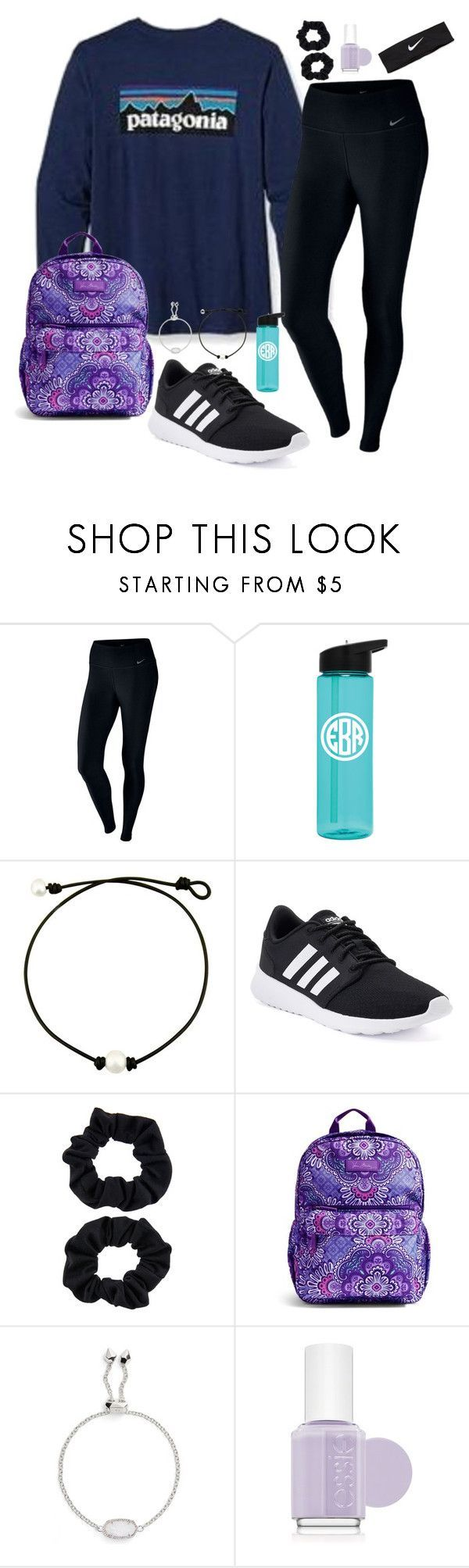 """""""work hard play hard"""" by nbrooke1009 on Polyvore featuring Fraternity, NIKE, adidas, Accessorize, Vera Bradley, Kendra Scott and Essie #polyvoreoutfits"""