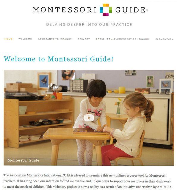 New site from Association Montessori International of the United States (AMI/USA) with lots of Montessori video inspiration