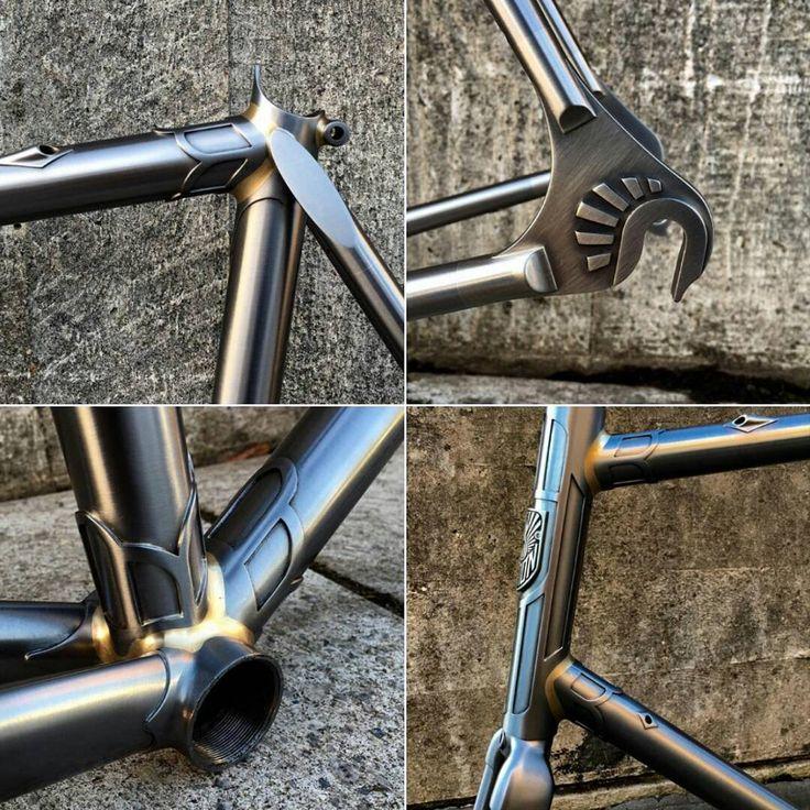 """Amazing handcrafted steel bike frame build by @Demon_Frameworks #cycling #biking #cyclist #bike #custom #steel #handcrafted #bikebuilding #demonframeworks…"""