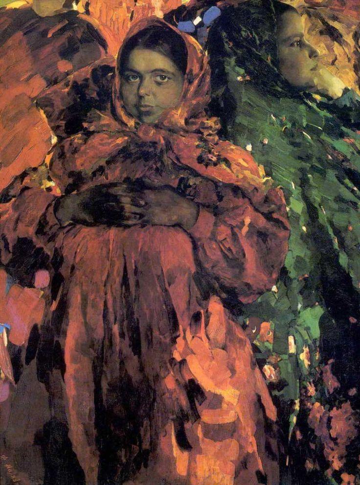 Малявин Филипп Андреевич - Две Девки. 1910г (760х1024)