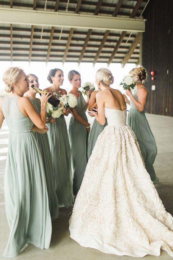 Wedding ideas by colour: Sage green wedding dresses | CHWV