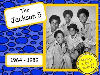 THE JACKSON 5...a band of brothers who skyrocketed to the top of the pop charts under the Motown label. Music history is FUN and a great way for you to connect with your students! NO WORK FOR YOU! Just print these low color ink PDF posters and you have a READYMADE bulletin board.