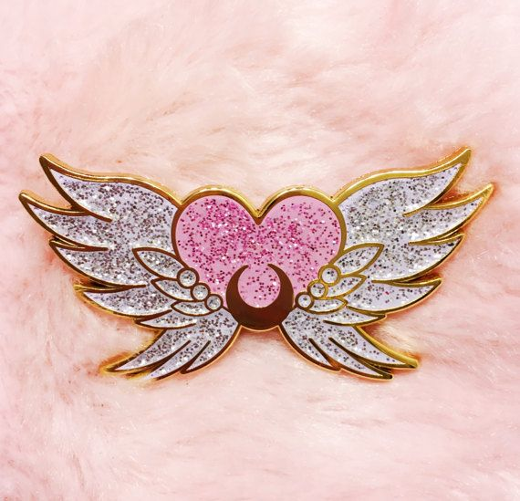 PRE-ORDER Eternal Sailor Moon - lapel enamel pin glitter kawaii anime manga cute glitter sparkle lolita fairy kei pastel pink