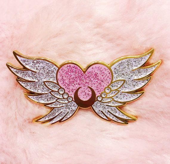 Eternal Sailor Moon lapel enamel pin glitter by cherrymagicclub