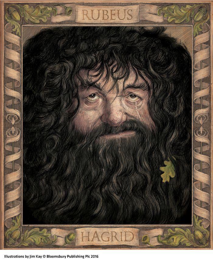 Rubeus Hagrid. Ilustração de Jim Kay. Harry Potter e A Câmara dos Segredos - Edição Ilustrada