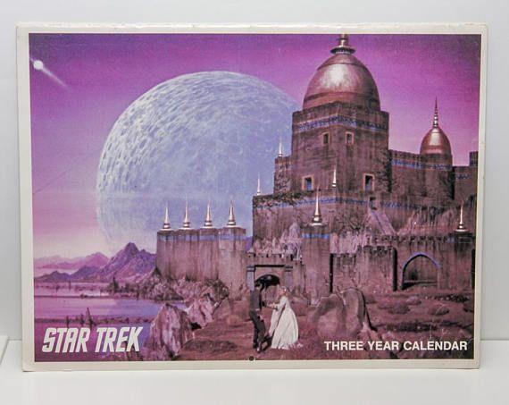 Star Trek 3 Year Calendar 1976 1977 1978 original series