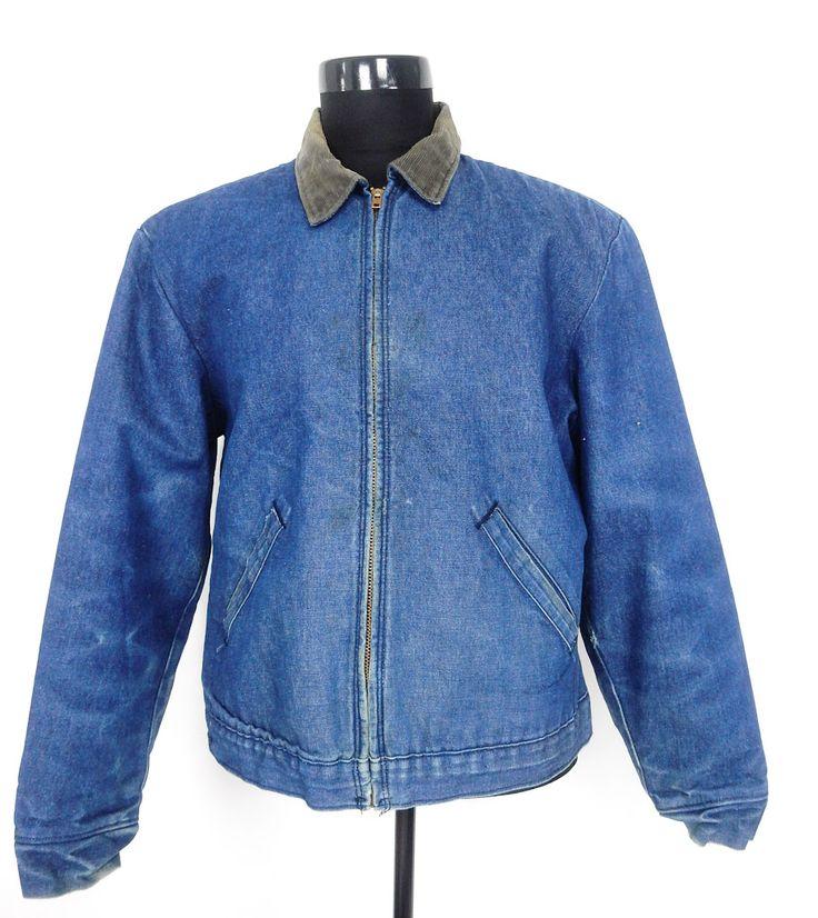 Vintage Zipper, Felt Lining Denim Jacket