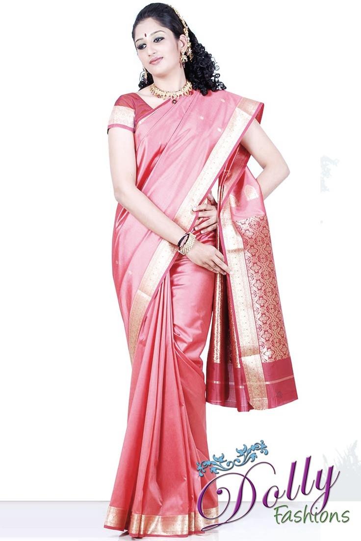 Light Pink Silk Saree