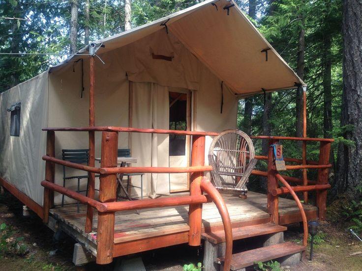 Safari Tents, Ruby Lake Resort, Sunshine Coast, BC - Ruby Lake Resort, Sunshine Coast, BC; Eco-lodge, Wilderness Escape; Trattoria Italiana