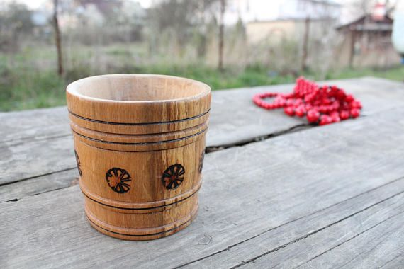 Vintage Wooden Mug.Wood stein Handmade.Beer stein.Wood