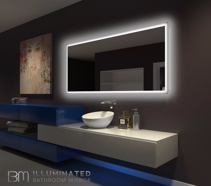Dimmable Backlit Bathroom Lighted Mirror Size X Inches
