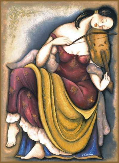 Rajka Kupesic - Woman With Lyre