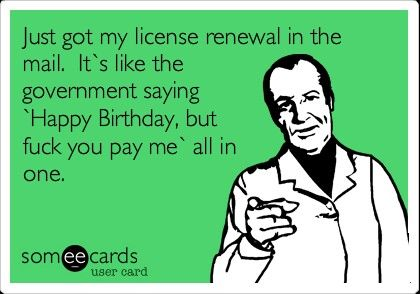 Ah yeah...nursing license, drivers license all at once! Throw in my hairdresser license also!  Yikes!