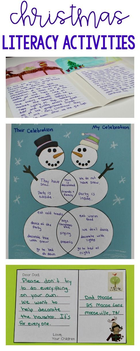 5 Christmas reading, writing, and art activities for upper elementary students.