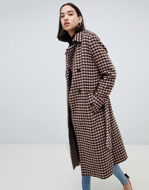 Selected   Selected Femme Check Wool Wrap Coat   CASUAL JACKETS AW19 ... 94620a92552