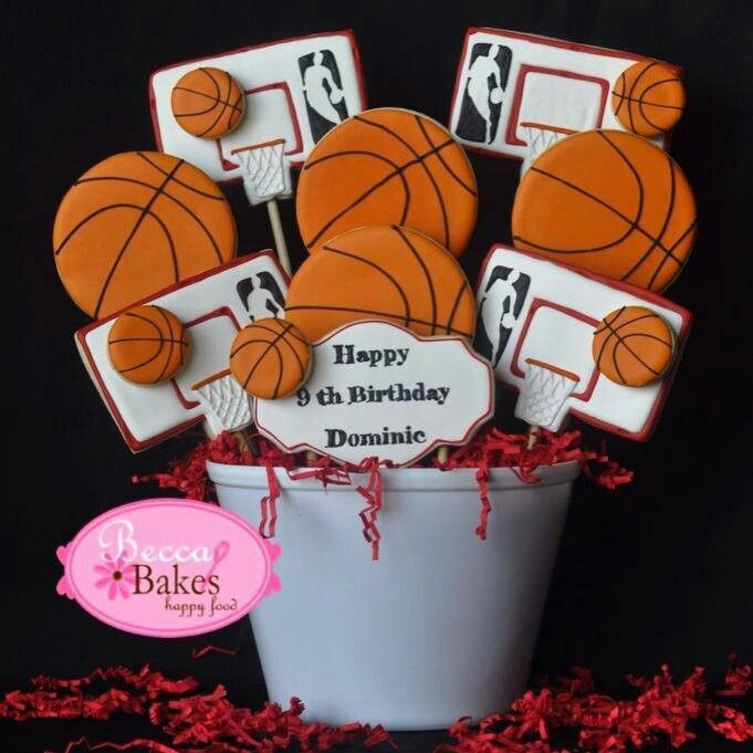Basketball Cookies | Becca Bakes