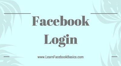 Facebook Login - Create New Facebook Account
