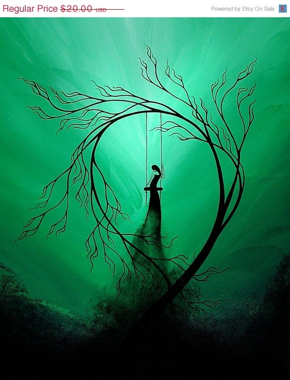 Fantasy Art Tree Print Heartache And Poetry 59 By