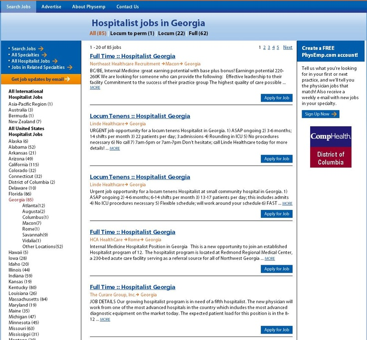 Search and apply to hospitalist jobs in Positions