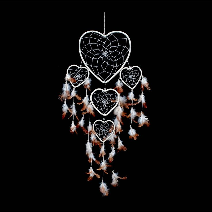 """Dream Catcher ~ Cream & Silver Heart Shape with Silver String 8.5"""" Wide & 24"""" Long. Native American dream catcher bedroom decor is believed to give its owner good dreams. Shop our entire gift collection of handmade dream catchers from $22.88 http://www.amazon.com/Dream-Catcher-Cream-Silver-String/dp/B00SIG03R8/ref=sr_1_54?m=A2NNK9JTBO5J9L&s=merchant-items&ie=UTF8&qid=1428557667&sr=1-54"""
