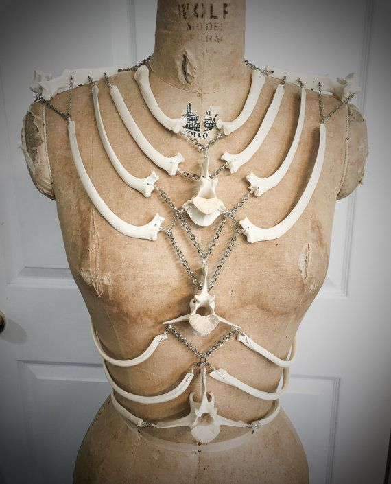 Bone Chain Harness Corset Top by Louise Black by louiseblack
