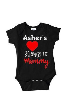 Heart belongs to mommy personalized outfit for baby boys to heart belongs to mommy personalized outfit for baby boys to celebrate 1st mothers day negle Gallery