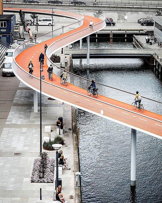 Bicycle Snake by Dissing+Weitling Architecture. (2014) Location: #Copenhagen #Denmark  #architectdesigne