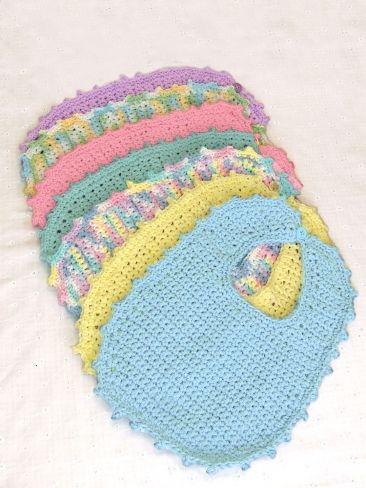 Handicrafter Cotton - Bibs & Booties (crochet) | Yarn | Free Knitting Patterns | Crochet Patterns | Yarnspirations
