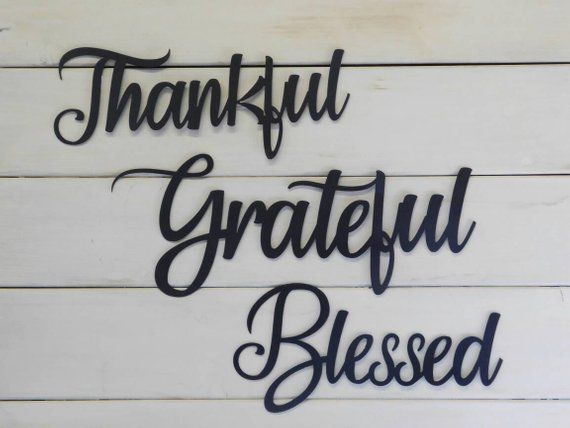 Blessed Sign Rustic Word Art Sign Metal Words Metal Wall Signs