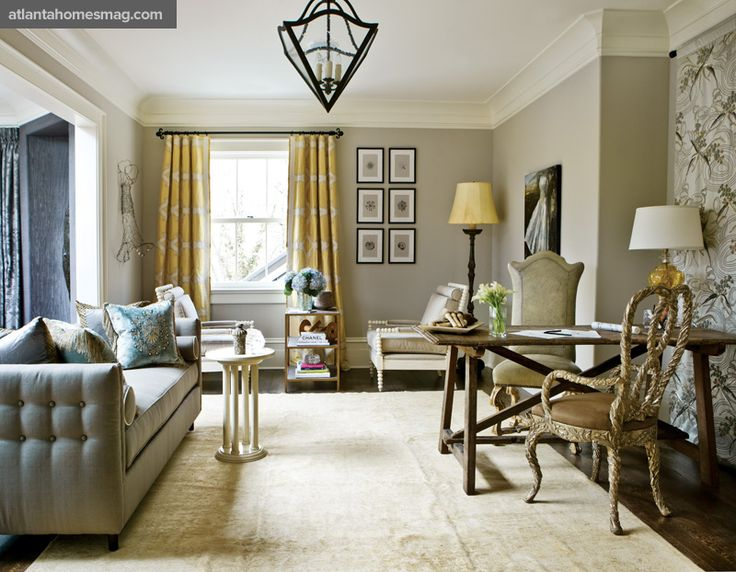 Ben moore 39 revere pewter 39 contrast with yellows blues - Benjamin moore revere pewter living room ...