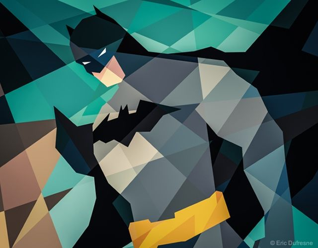 low poly batman. Illustration by Eric Dufresn